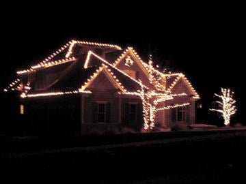 you can hire someone to put up christmas lights