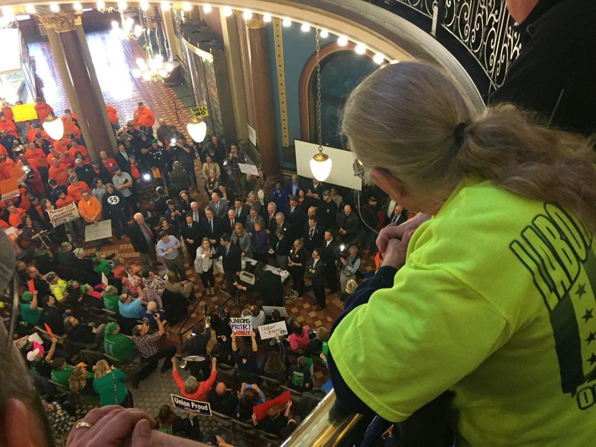 Collective bargaining rally