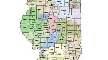 Map Proposed Illinois Senate districts