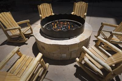 A fire pit makes a great backyard feature.