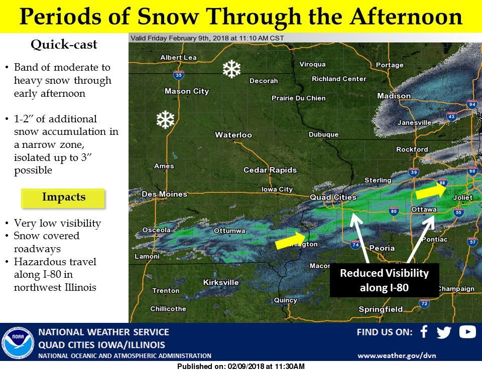 NWS: Snow afternoon