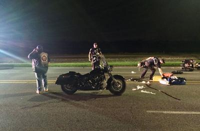 Car-motorcycle crash