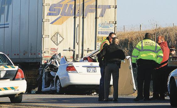 Semi-car crash