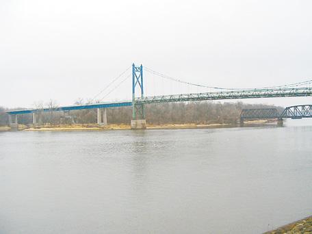 U.S. 30 bridge in Clinton