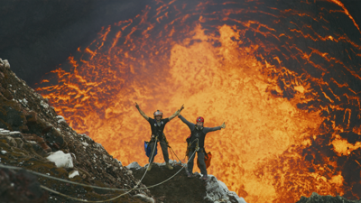 'Volcanoes' is playing now on the Putnam Museum big screen