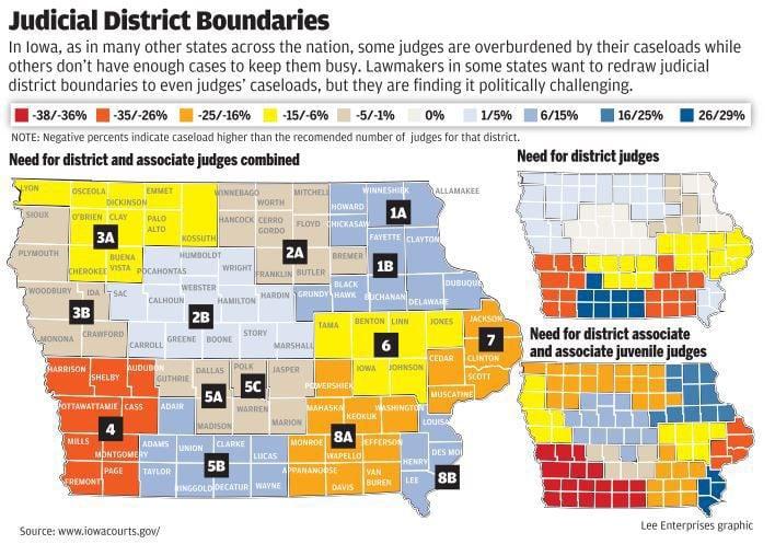 Iowa Judicial District Boundaries