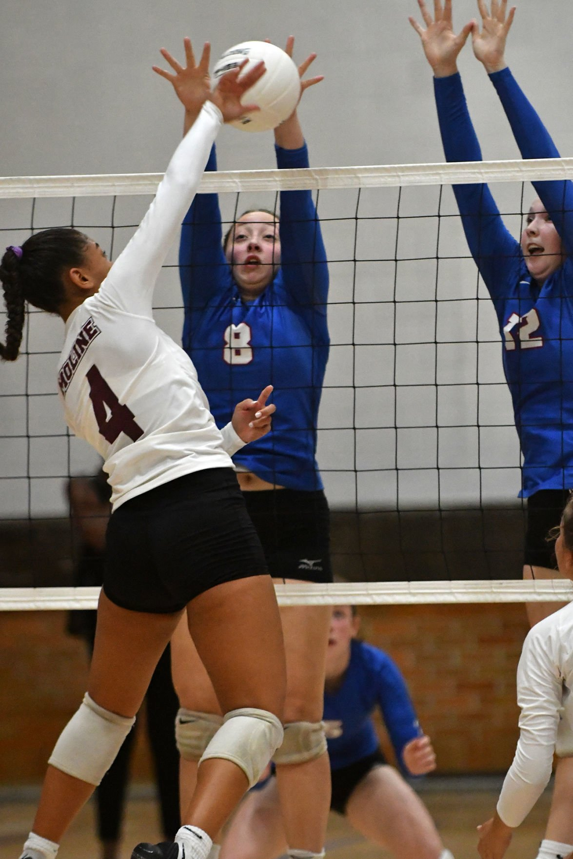 Moline at Davenport Central volleyball