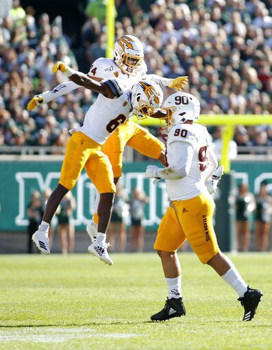 Arizona State edges No. 18 Spartans 10-7 in wild last minute