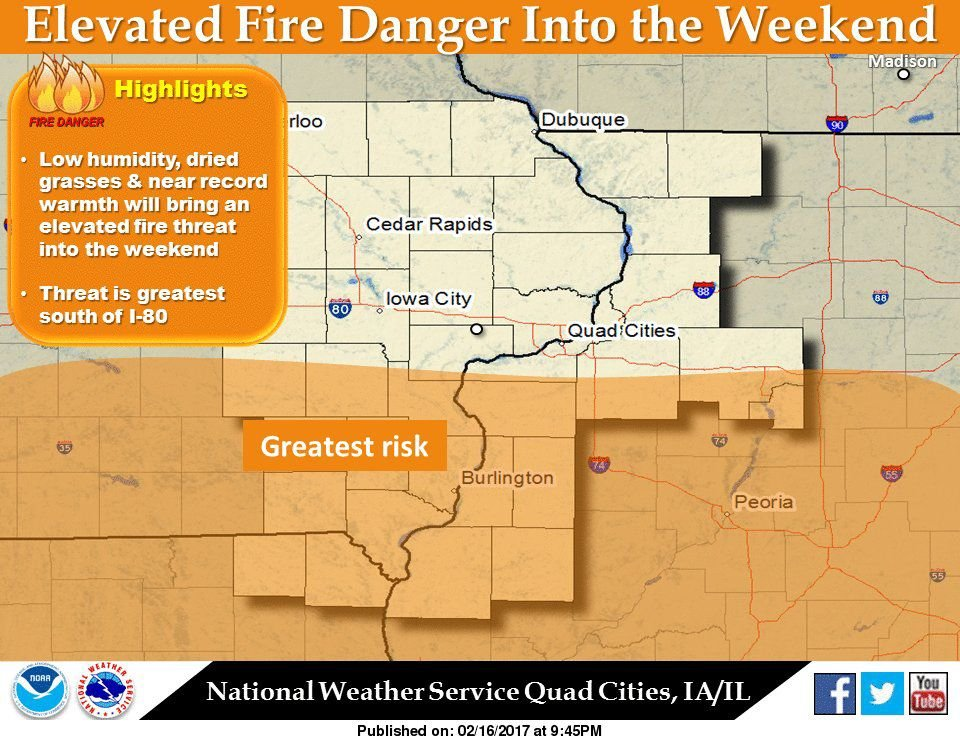 NWS: Fire risk