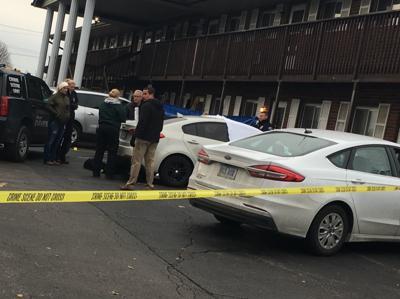 Crime scene at Woodland Apartments