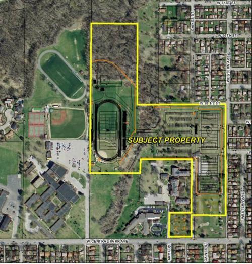 St. Ambrose stadium plan aerial view