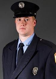 Clinton firefighter Adam Cain