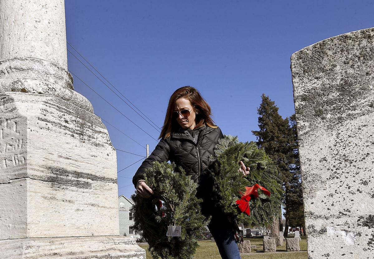 Holiday wreaths for veterans' graves