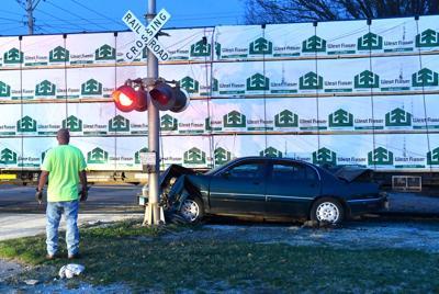 Car hit by train in Rock Island