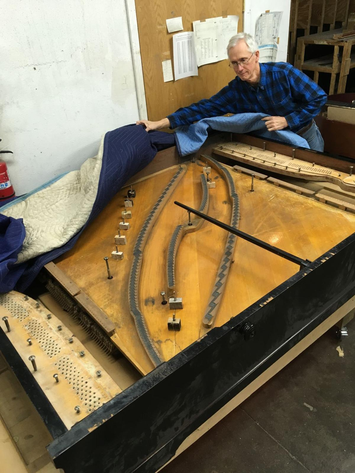 Pleyel double grand piano