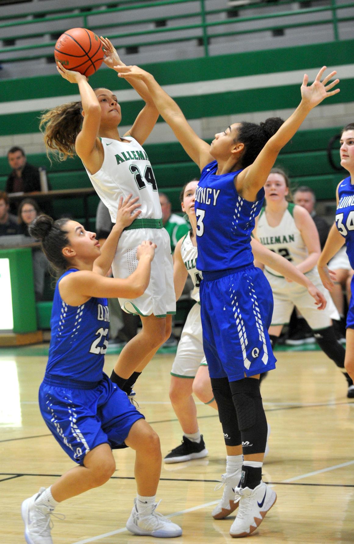 Alleman vs Quincy girls basketball