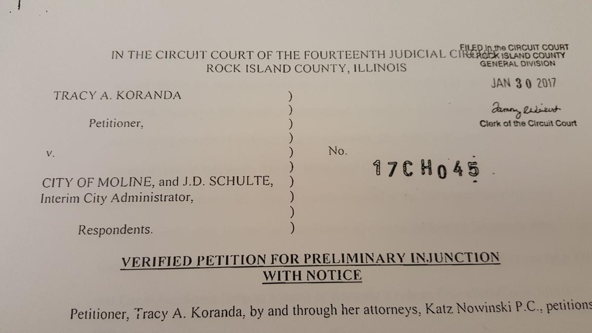 Clerk lawsuit against city