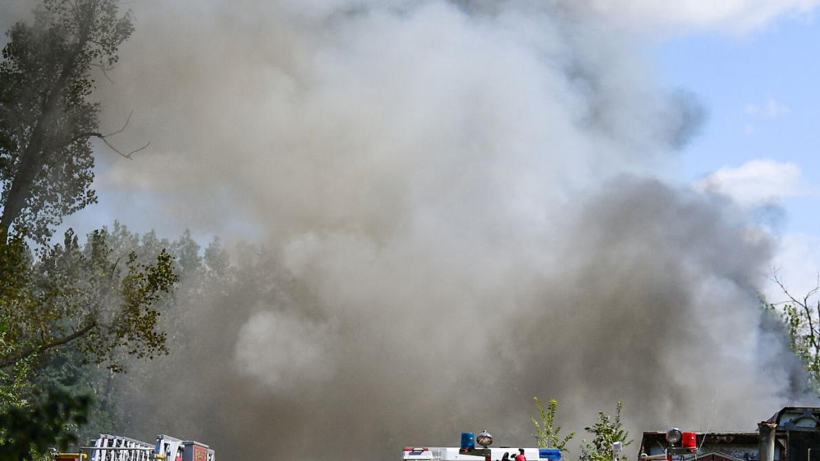 Photos: Crews respond to a structure fire along the 4300 block of 7th Street