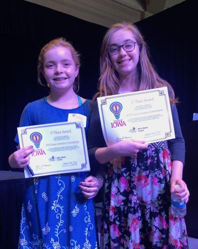 Local students win first prize at Invent Iowa State Competition