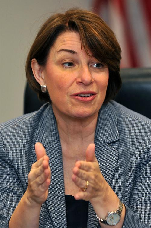 Democratic Presidential candidate Amy Klobuchar