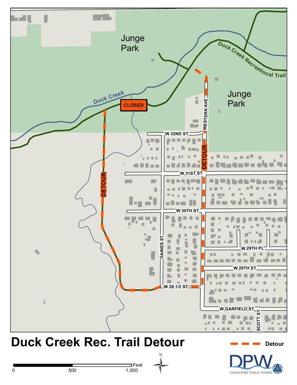 Bike patch detour