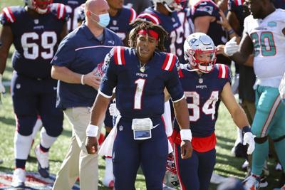 Patriots Newton Cut Football