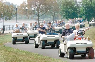 Seniors tour Quad-City riverfronts in golf carts | Local News ... on
