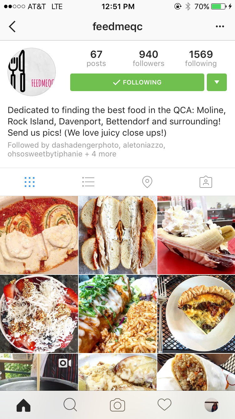 On instagram q c foodies spread love of local restaurants food the feedmeqc account on instagram run by alexandra olsen and brooke schelly aims to highlight local eateries around the quad city metro area forumfinder Choice Image