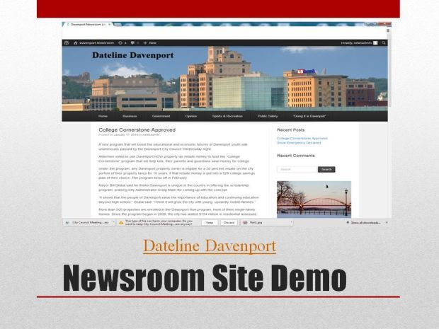 Davenport news website