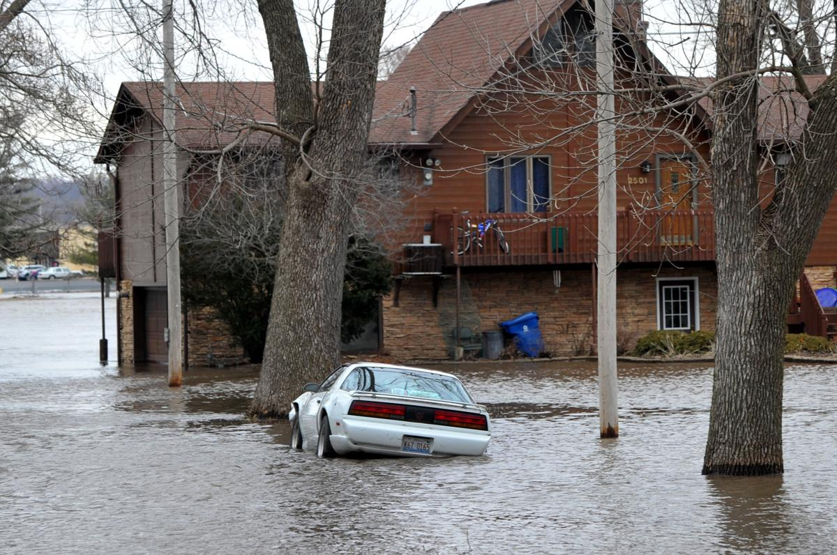 Rock River flooding in Moline