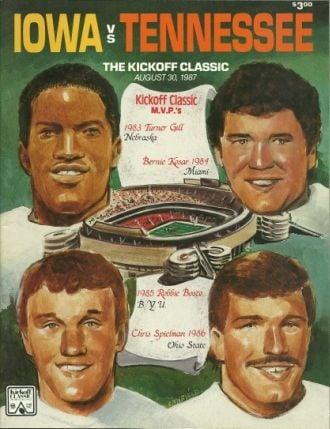 1987 Kickoff Classic program cover