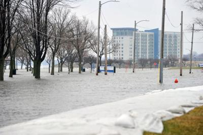Flooding in the Illinois Quad-Cities area.