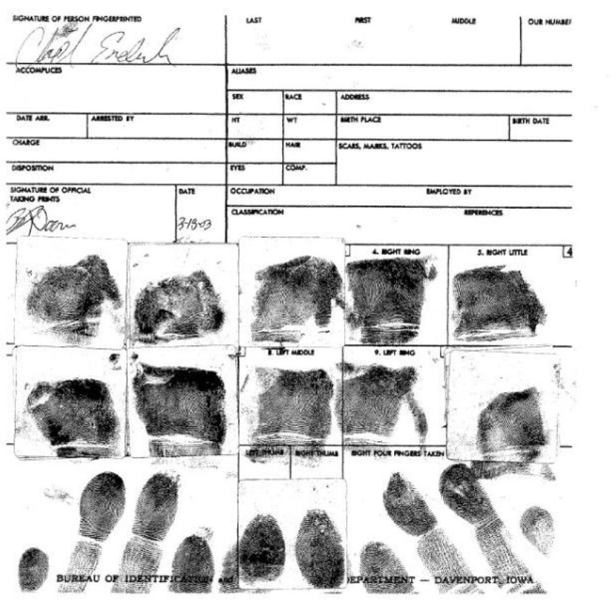 How A Davenport Murder Case Turned On A Fingerprint Local Crime Courts Qctimes Com