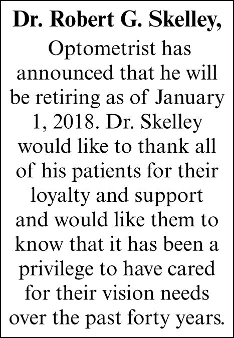 Dr. Robert G. Skelley,
