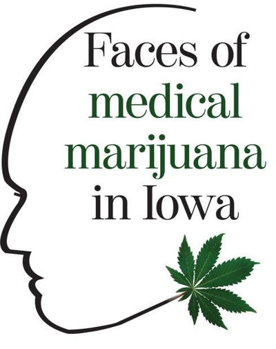 Medical marijuana faces logo