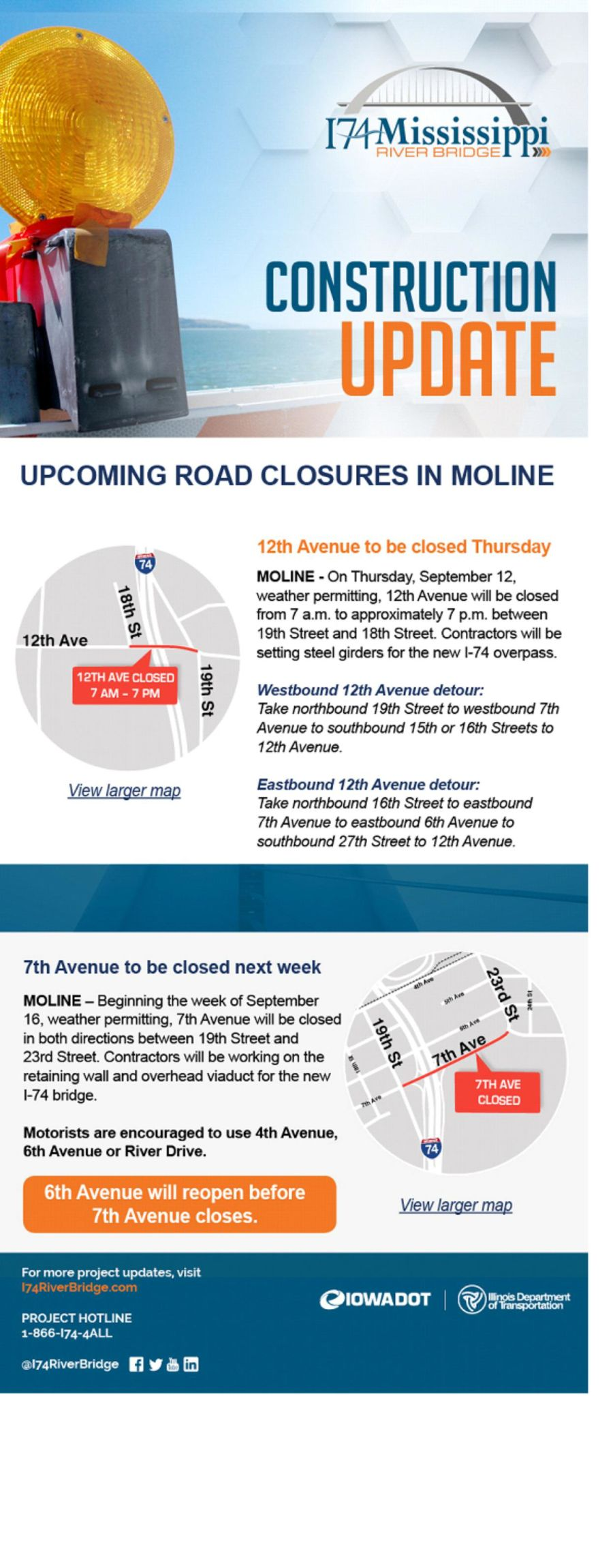 Moline road closure