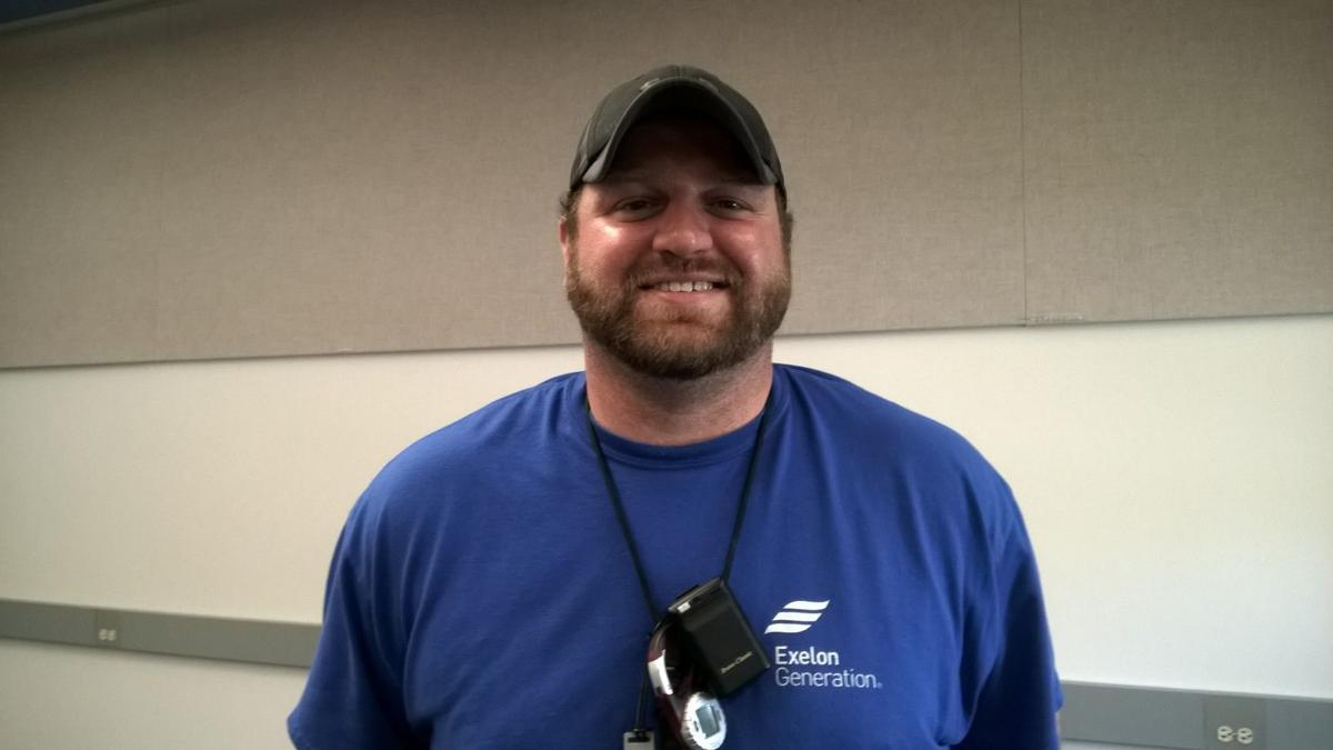 Dave Duncan, Exelon radiation protection technician