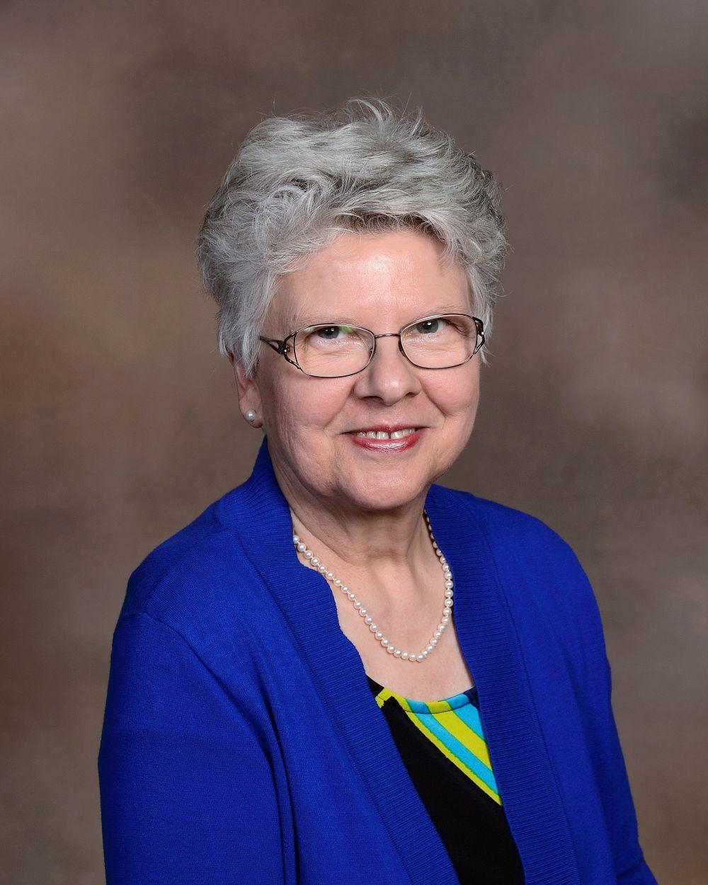 Ellen Bowlin, music director, St. Mark's Lutheran, Dav.