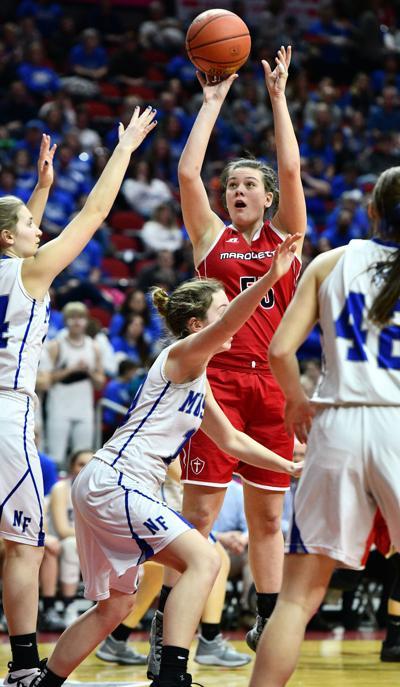 Newell-Fonda vs Marquette Catholic girls state basketball