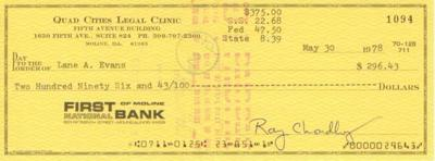 Lane Evans paycheck