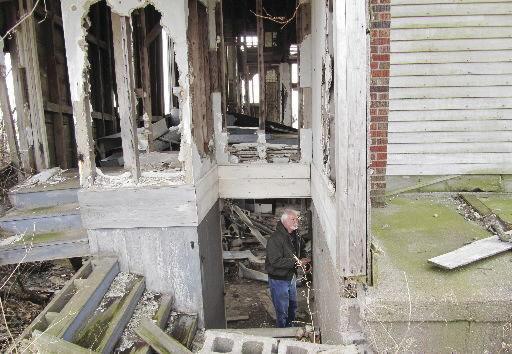 doug steinmetz in basement of school in 2012