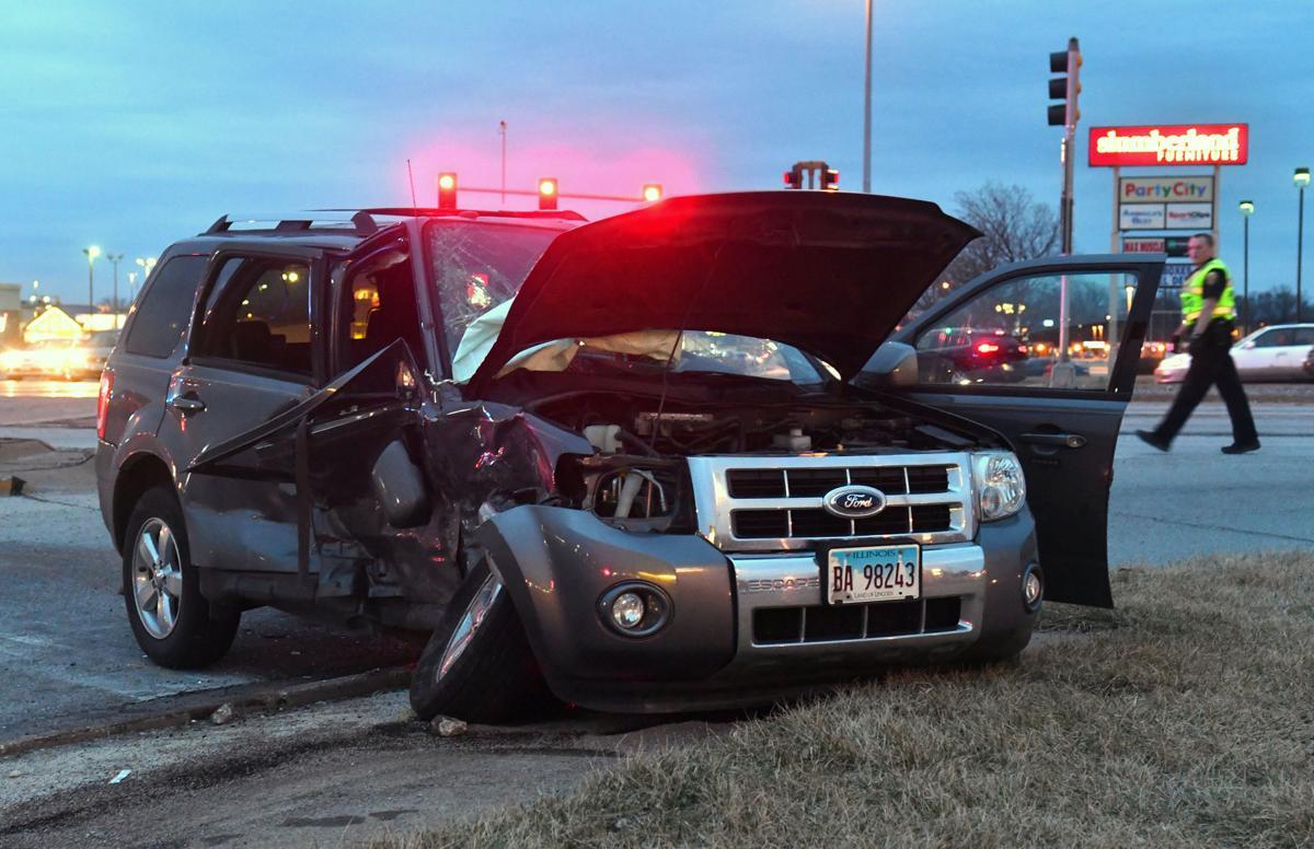 Moline car crash at 16th street and John Deere Rd.
