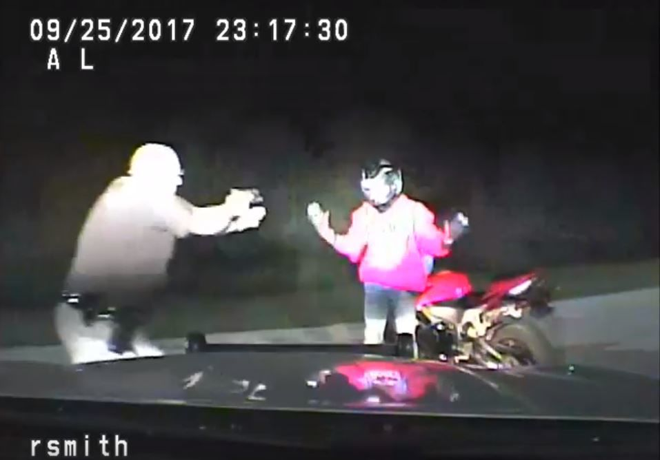 Video shows Iowa trooper striking motorcyclist during stop
