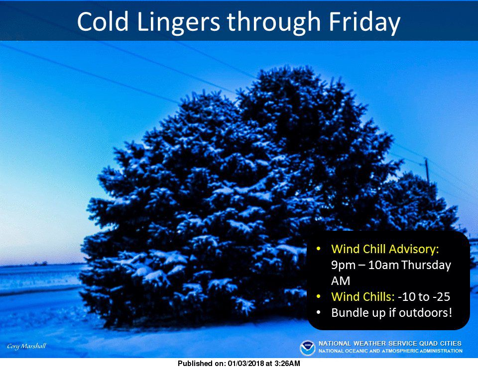 NWS: Cold lingers