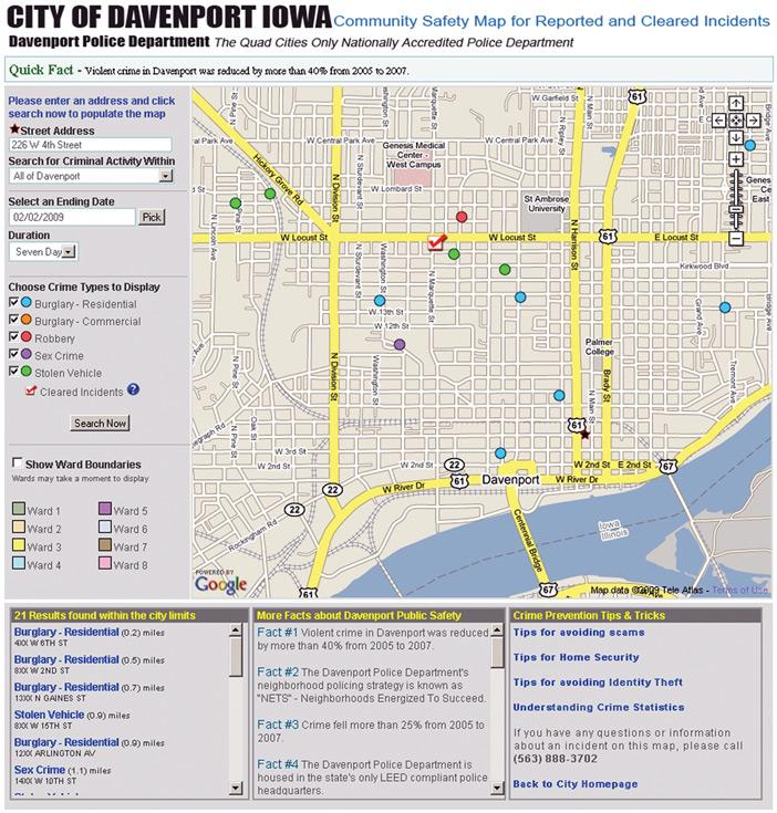 Davenport unveils online safety map Local News qctimescom