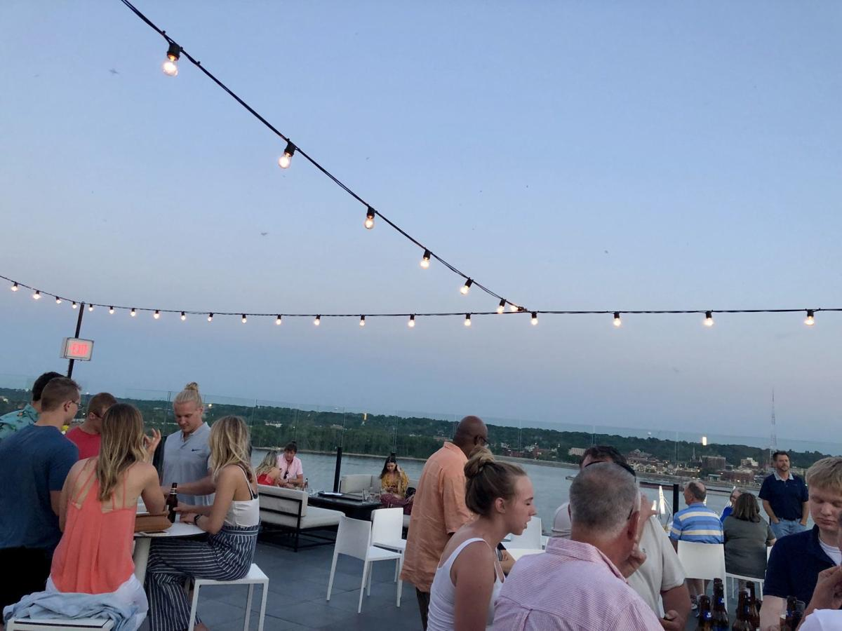 Atop the current iowa hotel is up a rooftop bar in downtown davenport