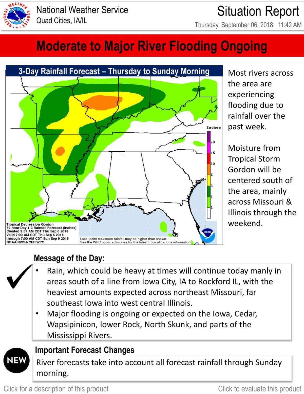 LATEST situation report from the NWS