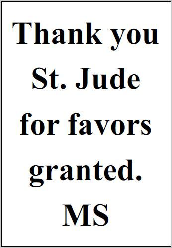 Thank you St. Jude