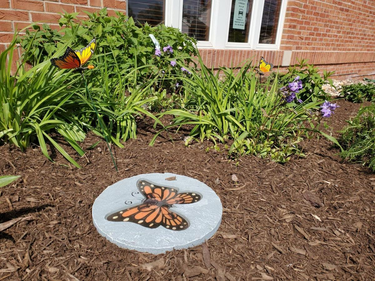 LeClaire Library butterfly garden