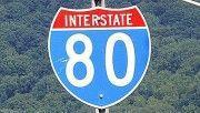 I-80 sign